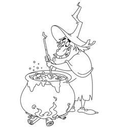 outlined witch brew vector image