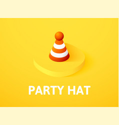 party hat isometric icon isolated on color vector image