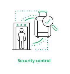 Airport security control concept icon vector