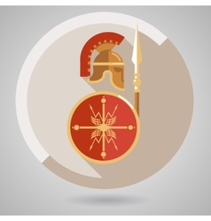 Ancient Warrior Icon vector image