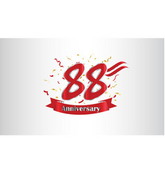 Anniversary celebration background with 88th vector