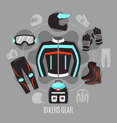 Biker gear design concept vector