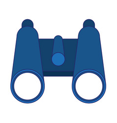 binoculars campng symbol isolated blue lines vector image