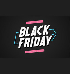 black friday modern banner template vector image