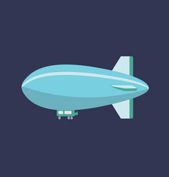 blimp air balloon icon set of great flat icons vector image