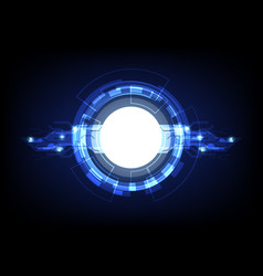 Blue lights technology abstract background vector