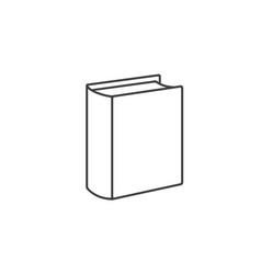 book icon standing book vector image