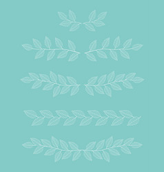 Branches dividers set vector