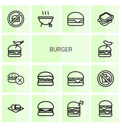 burger icons vector image