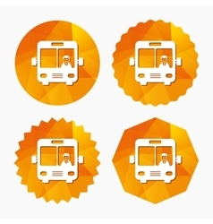 Bus sign icon Public transport symbol vector image
