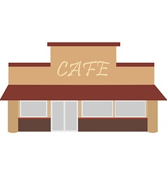 Cafe building vector
