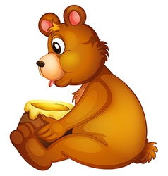 Cartoon Honey Bear vector