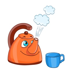 cartoon kettle vector image