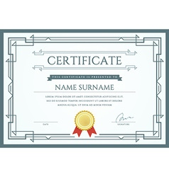 Certificate or diploma template ready for print vector