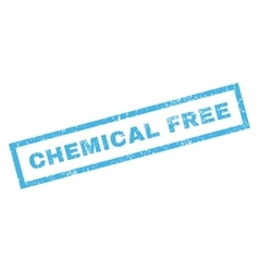 Chemical Free Rubber Stamp vector image