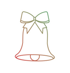 christmas bell with bow decoration season vector image
