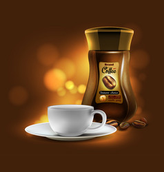 Coffee advertising design vector