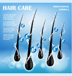 cosmetic ads template hair nourishing protect vector image