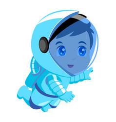 cute cartoon an astronaut vector image