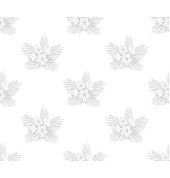 Cypress vine flower outline pattern vector
