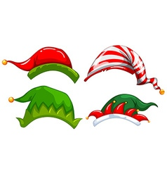 Different designs of jester hat vector image