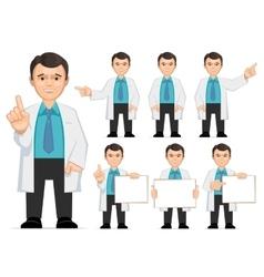 Doctor scientist teacher vector