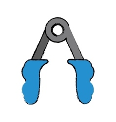 drawing blue handles fitness gym equipment vector image