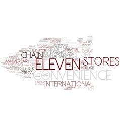 Eleven word cloud concept vector