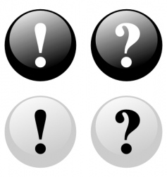exclamation question buttons vector image
