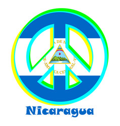 Flag of nicaragua as a sign of pacifism vector