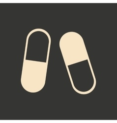 Flat in black and white mobile application pills vector