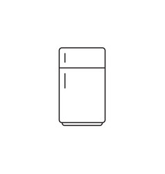 Fridge line icon refrigerator outline vector