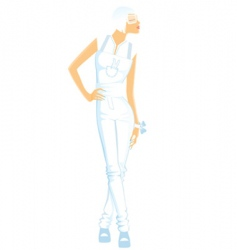 Girl white vector