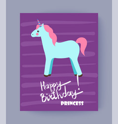 happy bithday princess card vector image