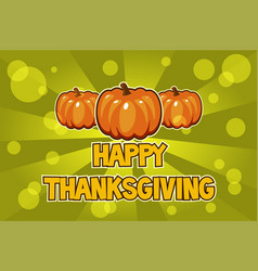 Happy thanksgiving day cards orange vector