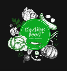 Healthy food vegetarian 2 vector