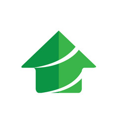 home business finance building logo vector image