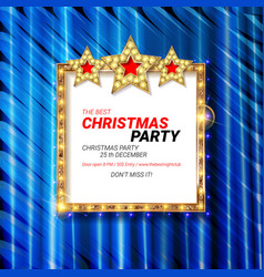 Invitation merry christmas party vector