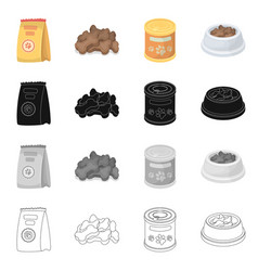 Isolated object food and tin logo collection vector