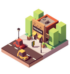 Isometric insurance agency vector
