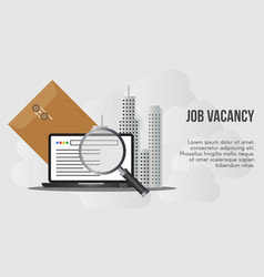 job vacancy concept design template vector image