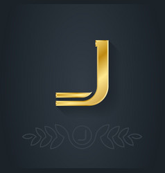 Letter J or number one Template for company logo vector