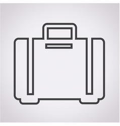 luggage icon bag icon vector image