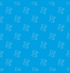 map pattern seamless blue vector image