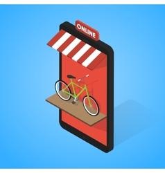 mobile supermarket internet commerce concept vector image