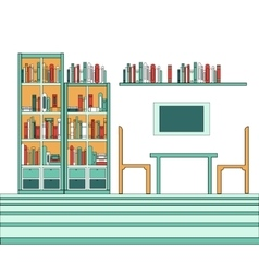 modern creative library vector image