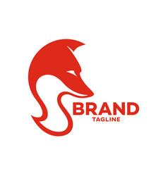Modern fox and letter s logo vector