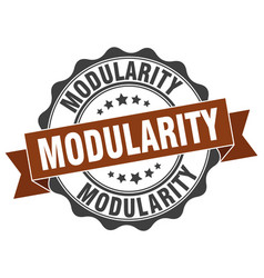 Modularity stamp sign seal vector