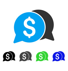 Money messages flat icon vector