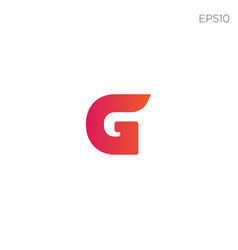 Monogram initial g g logo template black color vector